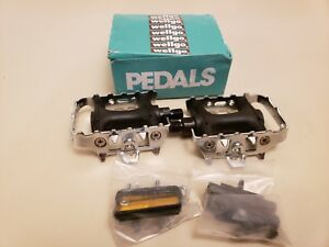 Wellgo K20427 Pedals..Black and Silver..BMX Bike..Touring..Hybrid Bicycle 1/2""