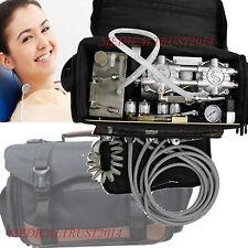 BLACK Bag Portable Mobile Dental Unit w Air Compressor Suction Triplex Syringe