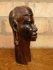 More details for a nice carved hardwood african 7 1/2