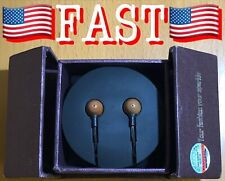 SoundPie SP12 Braid Cable Metal In Ear Wooden Isolating Earphones W/ Microphone