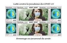 CENTRAL AFRICAN REPUBLIC 2020 - SHEET 2 STRIPS - JOINT ISSUE - PANDEMIC RARE MNH