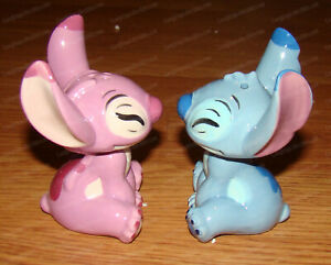 Stitch and Angel Salt & Pepper Shakers (Disney by Enesco, 6008687) Stoneware