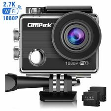 Action Camera Campark ACT68 Sport Cam Wifi 2.7K/1080P 12MP Full HD Underwater Ca