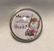 PEANUTS SALLY WHO CARES WHAT PEOPLE SNAP BUTTON JEWELRY,CHARMS,CHUNK JEWELRY