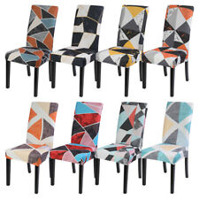 Dinning Chair Cover Geometric Slip Covers Elastic Removable Wedding Banquet Home