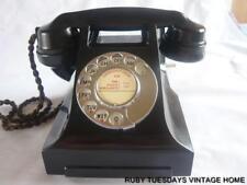 STUNNING VINTAGE GPO BLACK BAKELITE TELEPHONE Art Deco Retro Antique dial phone