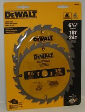 "DeWalt DW9158 6-1/2"" Circular Saw Blade Combo Twin Pack 18T & 24T NEW 2 Blades"