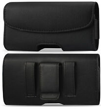 For iPhone 6 Plus/ 6S Plus  Black Leather Holster Pouch Case Cover Bel