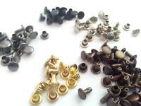Double cap rivets Leather craft 6 mm. Rapid double-faced rivets # 0 / K15