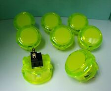 Japan Sanwa Crystal Buttons x 8 pcs OBSC-30 Clear Yellow Color Video Game Parts