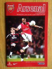Arsenal v Liverpool 2007/08 programme