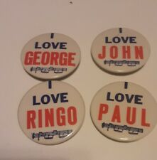 The Beatles 4 Vintage Pinback Buttons