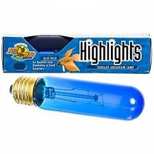 Tubular Aquarium Lamp for Fish and Aquatic, Color: Blue , Size: 15 WATT