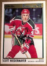 SCOTT NIEDERMAYER 1991-2 O Pee Chee RC SIGNED AUTO AUTOGRAPH #35 Devils Rookie !