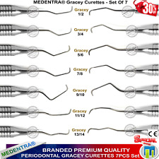 Branded Periodontal Gracey Curettes Set of 7 From MEDENTRA DENTAL INSTRUMENTS CE