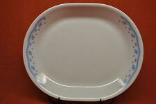 "Corelle By Corning 12"" Oval Serving Platter Morning Blue Pattern"