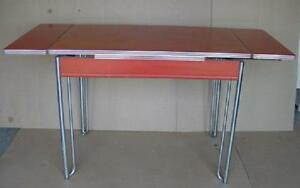 vintage formica and chrome kitchen table farmhouse country kitchen w/2 leaves