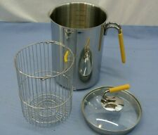 KUHN RIKON SWITZERLAND LARGE 4TH BURNER POT LID BASKET Yellow Stainless Steel