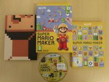 Nintendo Wii U Game * SUPER MARIO MAKER * Complete Retro Rare 23316