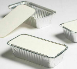 100 X TAKEAWAY FOOD CONTAINERS FOIL CONTAINERS WITH LIDS - No1 /No2 / No6a