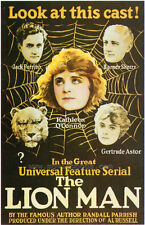 THE LION MAN Movie POSTER 27x40 Gertrude Astor Henry A. Barrows William A.