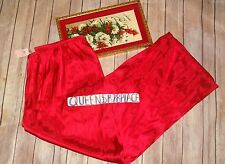 Nwt Gilligan & Omalley women's Red Satin Pajama Pants Pjs Lounge XXL 2XL New D68