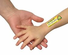 SAFETY TAT QUICK STICK WRITE-ON TATTOOS Emergency Contact Lost Kids Toddlers