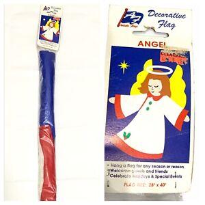 Vintage Artistic Flag 28x40 Angel Christmas Holiday Decorative Flag Yard Garden