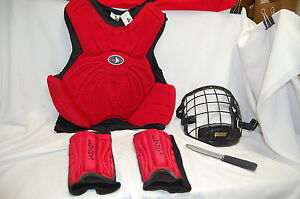 Martial Arts Covers & Tools  Red & Black Adult Large  Lot of 5 Pieces  S7636