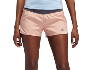 Adidas Running Shorts Womens Large Authentic Glow Pink Reflective Run It 3 Inch