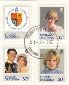 (83223) Tristan da Cunha Used Princess Diana 21st Birthday 1982 ON PIECE