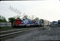 1988 GT 5711 & 5814 Locomotive EMD GP38-2 near Durand Michigan Kodachrome Slide
