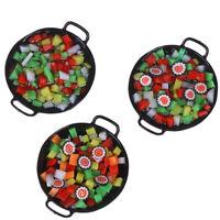 Casa de muñecas Mini comida wok Sushi Verduras Dulces Comida Juguete Al azarK