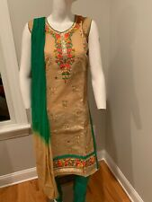 Indian Designer Chudidar Silk Shalwar Ready Made Party Wear Ethnic Salwar Kameez