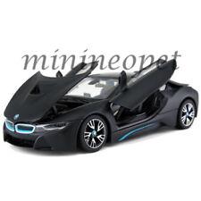 RASTAR 56500 BMW i8 1/24 DIECAST MODEL CAR MATTE BLACK