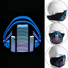 LED Light Up Luminous Flashing Face Mask Dance Halloween Cosplay Costume Party