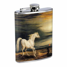 Horse Em2 Flask 8oz Stainless Steel Hip Drinking Whiskey