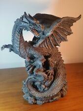 "Dragon Statue Large Black 44"" inch tall Gothic Magic Mystical Medievil Skull"