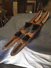 New listing Vintage 57� Cypress Gardens Dick Pope Iii Wood Water Skis Doubles Singles Slalom