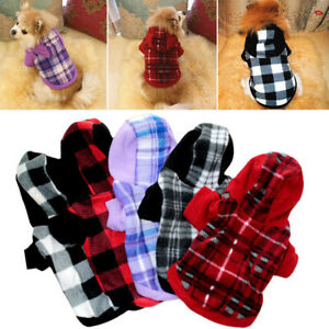 Pet Fleece Hoodie Clothes Puppy Dog Warm Jumper Sweater Coat Small Chihuahua Cat