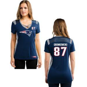 NFL Women's Shirt New England Patriots Rob Gronkowski Jersey Draft16