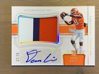 2018 National Treasures Deon Cain AUTO Jersey PATCH, RPA SP #/25, Clemson!