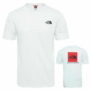 Men's The North Face TNF Red box T-Shirt 100% Cotton Short Sleeve Crew Neck Tees
