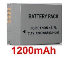 Battery 1200mAh type NB-7L NB7L for Canon PowerShot G12