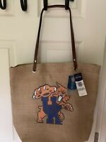 University of Kentucky Burlap Tote Bag. Great For Pool, Beach And Everyday Use
