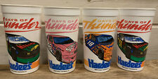 Lot Of 4 Vintage 1990 Hardee's Days Of Thunder Movie Promotional Cups Racing