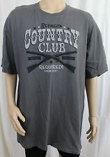 Redneck Country Club Boots and Hat Required Gray 2XL Farm Boy Men's T-Shirt