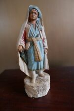 Great Vintage German Chalkware Figurine