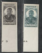 1945 FRENCH COLONY stamps, MAURITANIA, EBOUE full set Neuf sans charnière imperf with margin