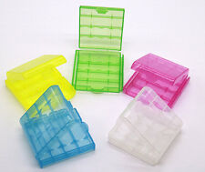 5 PCS Hard Plastic Portable Battery Case Holder Storage Box for AA AAA Battery